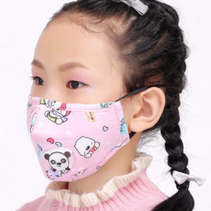 Gesichtsmaske für Kinder in Rosa