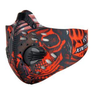 Sport und Trainingsmaske mit Ventil - Rot
