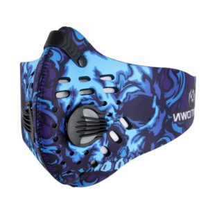 Sport und Trainingsmaske mit Ventil - Blau