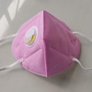 Gesichtsmaske mit ventil - rosa