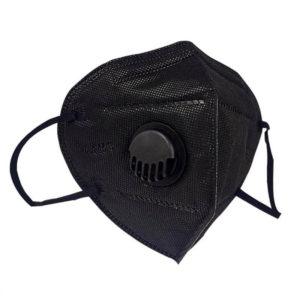 Gesichtsmaske mit Ventil - schwarz