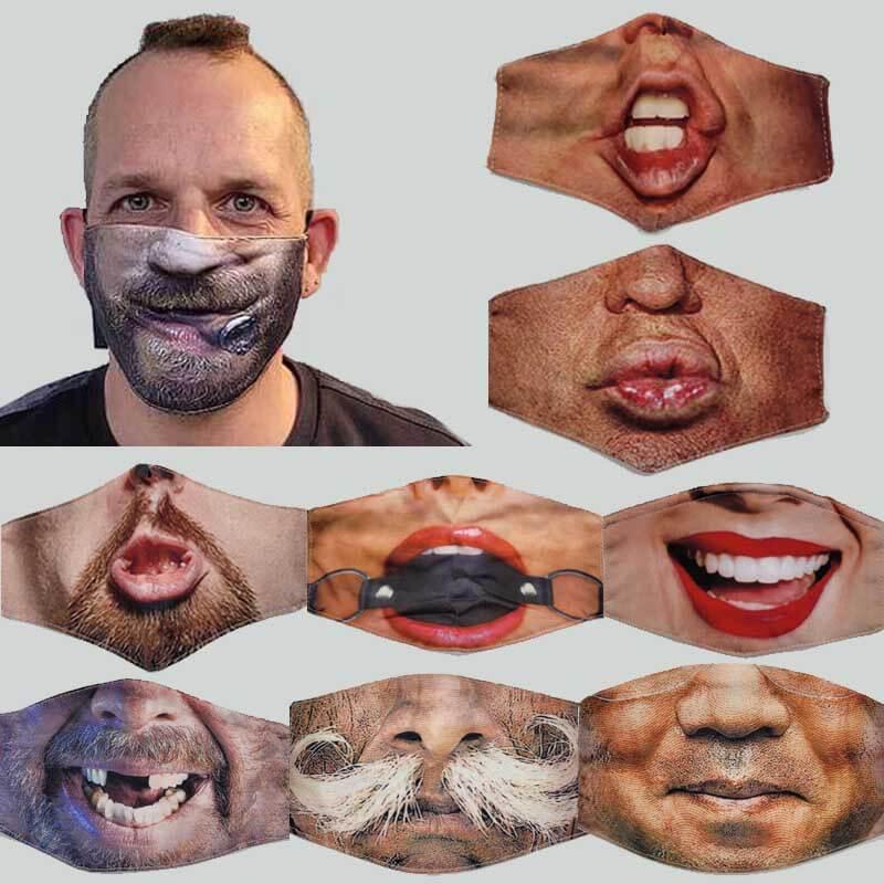Lustige Gesichtsmasken