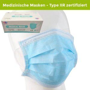 Chirugische OP-Maske nach EN 14683 Typ IIR