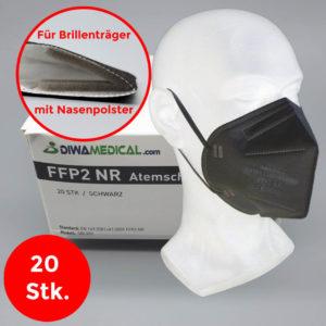 FFP2 Atemschutzmaske schwarz