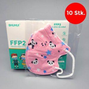 FFP2 Masken für Kinder CE-0161 - Panda (rosa)