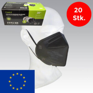 FFP2 Masken in schwarz CE2841