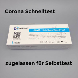 Clongene Corona Schnelltest für Laien zugelassen